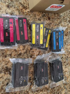 Printer ink- 950XL 3 black, 2 each Yellow, magenta and cyan for Sale in Carlsbad, CA