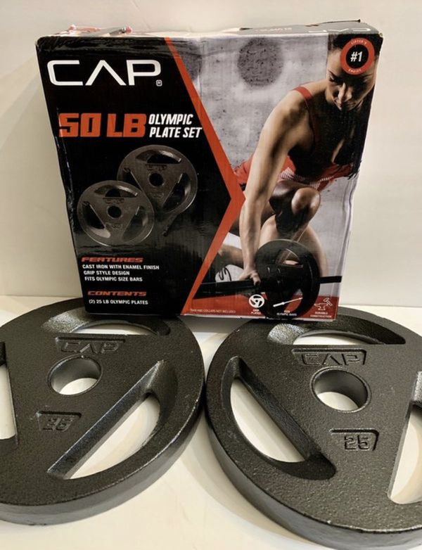 🏋🏽‍♂️🏋🏽‍♂️🏋🏽‍♂️(2) 25 pounds Olympic plates brand new in a box!!'