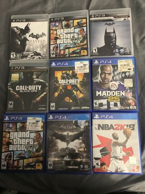 PS4 and PS3 Games (READ DESCRIPTION) for Sale in Lowell, MA