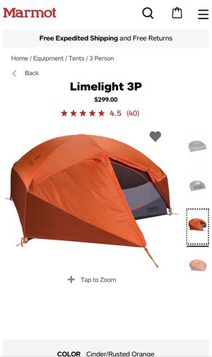Marmot Limelight 3P tent used 1 time for Sale in Sultan, WA