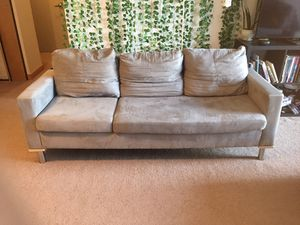 3 Seater Micro-suede Couch for Sale in Portland, OR