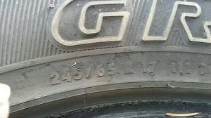 General grabber 245/65/R17 2 Tires and Arizona235/65/R17 2 Tires Khmer 75% Tread Avg for Sale in Wenatchee, WA
