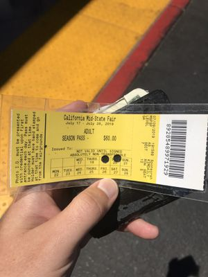 Mid state fair season pass for Sale in Paso Robles, CA