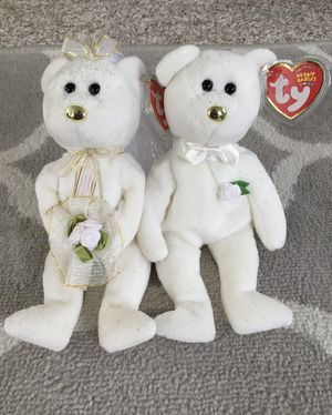 MINT condition Ty Beanie Baby HIS & HERS the Bride & Groom Wedding Bears for Sale in Olathe, KS