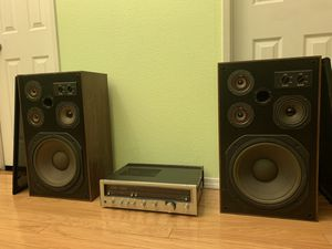 Vintage Kenwood Stereo Receiver KR4600 and speakers for Sale in West Covina, CA