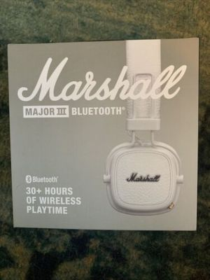 New Marshall Major III Bluetooth Headphones - White for Sale in Ashburn, VA
