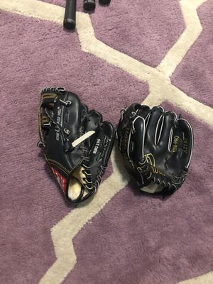 2 childs baseball gloves rawlings and wilson for Sale in Corona, CA
