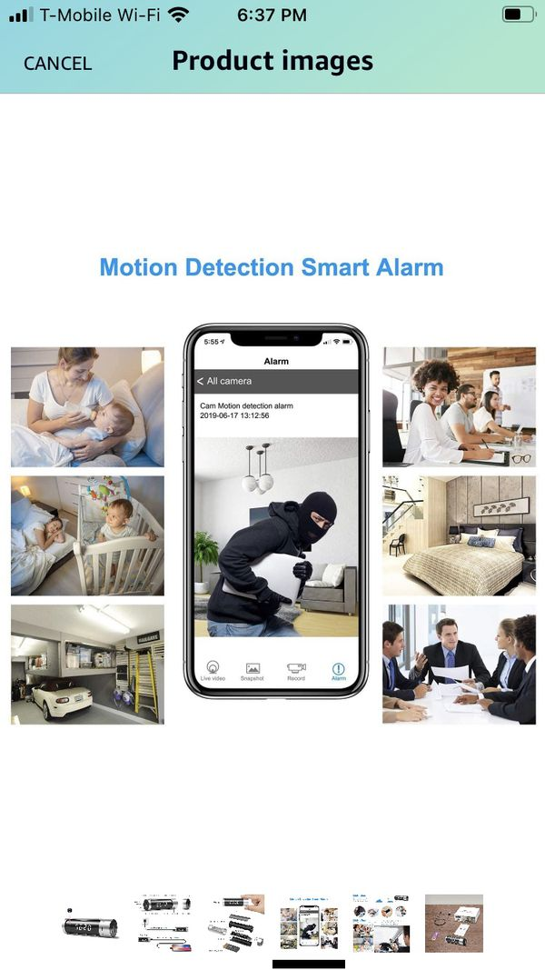 Spy camera with power bank and clock 1080 p resolution