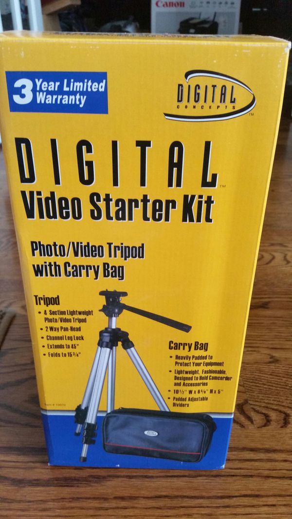 TRIPOD AND CARRY BAG FOR CAMERAS AND VIDEO RECORDERS