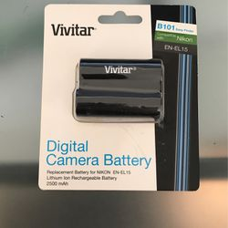 Replacement Battery For NIKON EN-EL 15 Lithium Ion Rechargeable Battery 2500 mAh for Sale in Queens,  NY