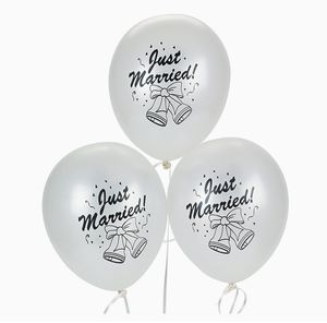 Wedding Just Married silver 12 Balloons for Sale in Bellevue, WA