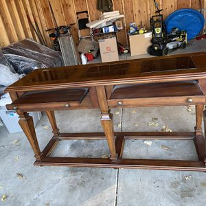 Wood Buffet Table Bar for Sale in Elmhurst, IL