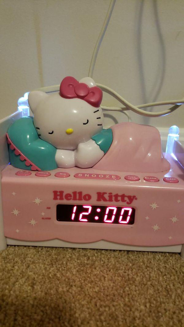 Hello kitty alarm clock with AM/ FM radio/ night light