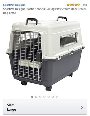 Plastic Travel Kennel for Pets (Cage, Crate, Dog, Cat) for Sale in Orange City, FL
