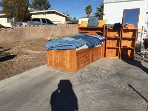 Solid Wood Twin Beds with Bookshelves for Sale in Las Vegas, NV