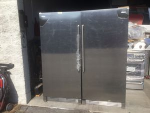 """New up right freezer and refrigerator Electrolux stainless steel w 64"""" for Sale in Irwindale, CA"""