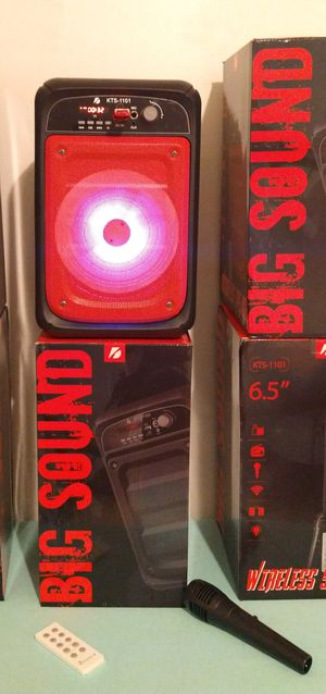 SPEAKER BLUETOOTH WIRELESS RECHARGEABLE 🔋 PORTABLE LOUD SOUND $35. NEW IN BOX for Sale in Rialto, CA