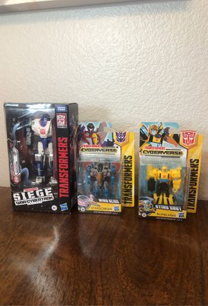 Hasbro Transformers Generations War For Cybertron Siege Deluxe Mirage Figure New for Sale in Chula Vista, CA