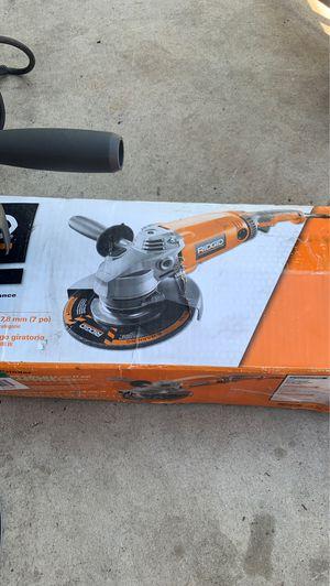 "Ridgid 7"" angle grinder for Sale in Phoenix, AZ"