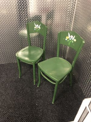 Two green antique wooden chairs for Sale in Alexandria, VA