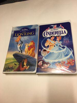 VHS Disney Lion King And Cinderella vintage for Sale in Davenport, IA