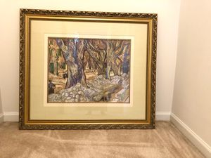 Beautiful matted print of a forest- art for Sale in Aurora, IL