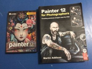 Corel Painter 12 Dvd software w/Painter 12 for photographers Painting book for sale for Sale in Fairview, TN