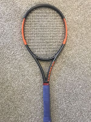 Wilson burn 100LS tennis racket 4 1/4 includes matching 12 pack bag for Sale in Orlando, FL
