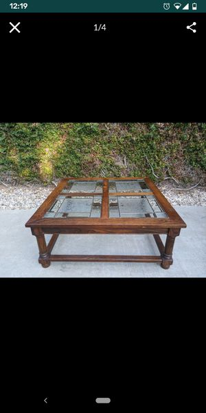 FREE! Beautiful wood and glass top coffee table for Sale in Upland, CA