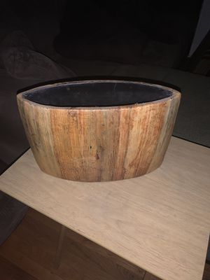 Wooden vase or item holder from Crate & Barrel for Sale in Los Angeles, CA