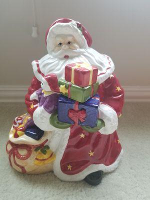 """13"""" hand painted Santa cookie jar for Sale in Katy, TX"""