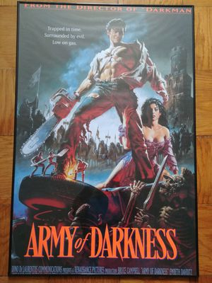 Army of Darkness framed movie poster for Sale in Alexandria, VA