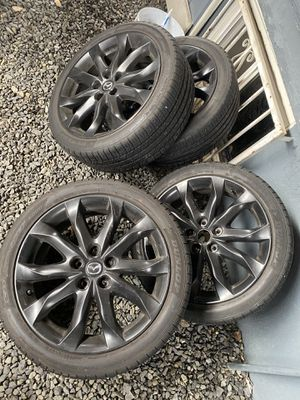 Mazda m3 oem wheels and tires 18 for Sale in Tukwila, WA