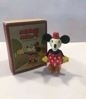 Disney Minnie Mouse Wooden Doll Figurine by Schylling ! for Sale in Norwalk, CA
