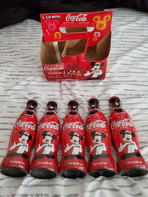 Mickey mouse coca cola bottles for Sale in Deatsville, AL