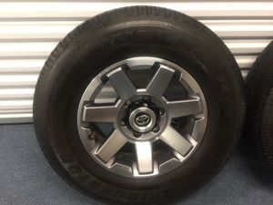 Toyota 2016 4Runner trail set (4) of size 17 tires & rims with tire pressure sensors & spare for Sale in Chicago, IL