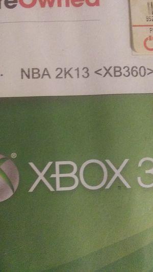 NBA 2K 2013 xbox 360 for Sale in Bloomington, IL