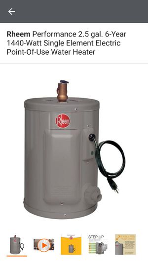 Rheem 2.5 Gallon Point of Use Water Heater for Sale in Henderson, NV