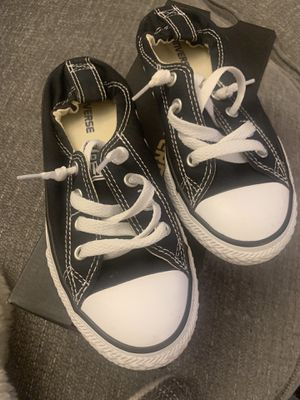 Converse tennis shoe lace black an white for Sale in Riverside, CA