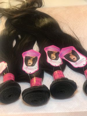 4 bundle deal 100% Indian human hair 18, 20, 20, 20 inches Ready to ship for Sale in St. Louis, MO
