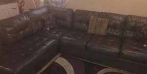 Smoke grey sectional couch for Sale in Nashville, TN