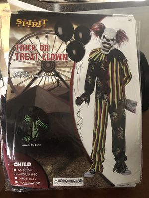 Trick or treat kids clown costume for Sale in Kissimmee, FL