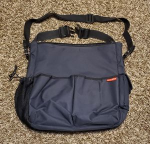 Diaper bag with strollers bar straps - excellent like new condition, lots of zippered and velcro packets and compartments for Sale in Bolingbrook, IL