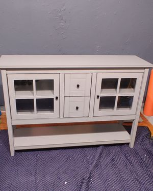 """Wayfair Buffet 52"""" TV Stand, Antique Grey for Sale in Raleigh, NC"""
