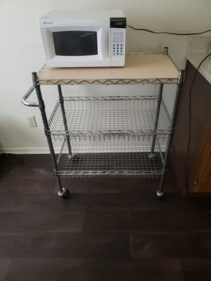 Bakers rack/ Microwave stand storage cart for Sale in Arlington, TX