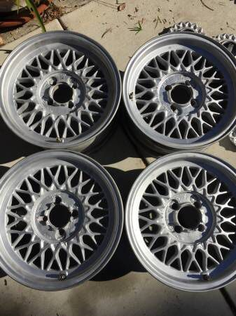 BBS 4x100 15x7 Basketweave Wheels