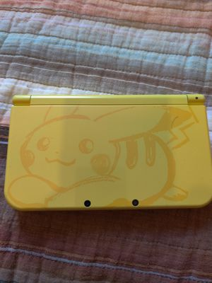 Pikachu yellow Nintendo new 3ds xl with 200 3ds games , ds , 2ds for Sale in Los Angeles, CA