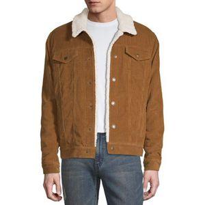 Brown denim and flower jacket for Sale in Ashburn, VA