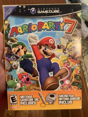 Mario Party 7 big box with microphone gamecube for Sale in Danville, CA