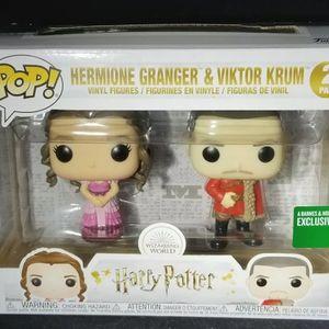 Funko POP! Harry Potter - (2-Pack) Hermione Granger & Viktor Krum Exclusive for Sale in Chanhassen, MN